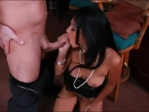 Raven haired sexy Cassandra Cruz with natural tits is a