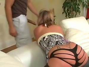 Cambrey Sage teases hot stud Voodoo by shaking and bouncing her amazing ass