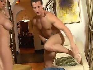 Hot horny blonde girl Katie Kox sucking boyfriends dick and giving him hot...
