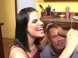 Beautiful steamy brunette doll Bobbi Starr having fun with Jimmy Broadway and...