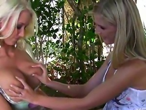 Two sympathetic playful blondes Molly Cavalli and Natalie gets pussy licked...