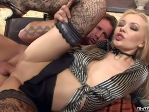 Logan is a slutty european blonde that loves anal sex.
