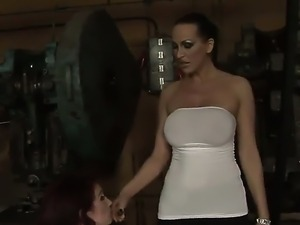 Hot and wild lesbian love between a horny bitch Mandy Bright and Pop Anca