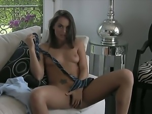 Nasty Tori Black posing in the living room and jilling her sissy like a dirty...