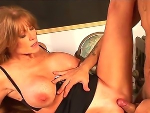 Mr. Pete came to visit his ex teacher Darla Crane and presents her his huge,...