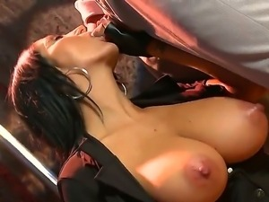 Hot brunette milf Ava Addams with awesome bubbles plays out police woman and...