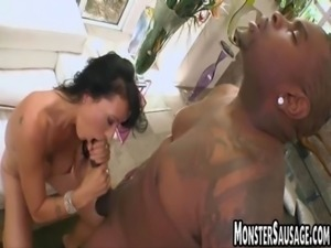 Guy with monster sausage fucks  girl free