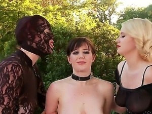 Three wicked whores in a latex Paige aka Ruby Rubber, Samantha Bentley and...