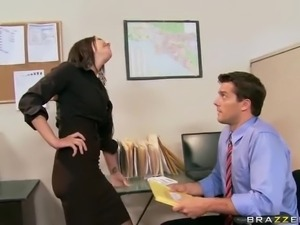 The only woman in the office Brandy Aniston gets shared