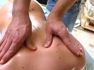 Tattooed blonde whore Katie Kox with gigantic juicy hooters gets her hot body...