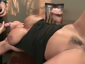 Huge tits Lisa Ann gets intense pleasure while fucking Mick Blues huge dick