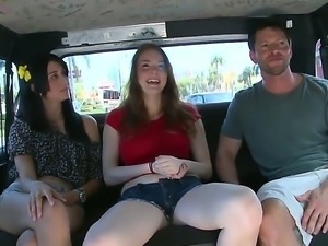 Chloe Taylor along her friend Kimbelry Wild get seduced into riding along...
