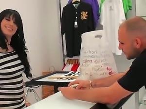Handsome men Jmac is seducing the girl Valery that he just met in the shop