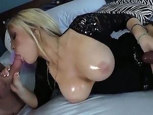 Milf with huge tits Tasha Reign enjoys sucking and fucking with horny male...