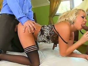 Amazing blonde Amelie enjoys massive dick in nasty anal fuck session