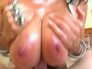 Check out with dazzling chick Alia Janine and her boobs-fuckers in Jonni...