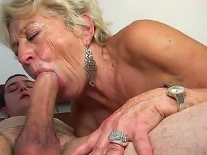 Mature blonde slut Malya enjoys younger stud in nasty hardcore sex session