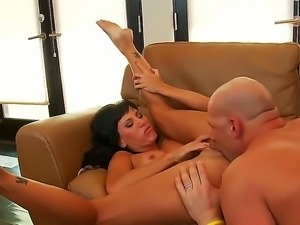 Lovely princess Lezley Zen makes Christian so hot and he pounds her wet pussy...