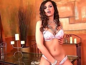 Goddess of solo masturbation Eve Angel has really amazing body and sweet holes