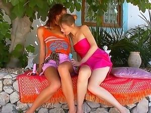 Sexy teens Beata and Natasha are having a really sexy teasing session
