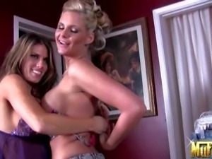 Phoenix Marie and Charisma Cappelli bare their big breasts in