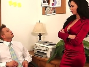 Bill Bailey is pacifying hot headed Veronica Avluv with zealous pussy licking...