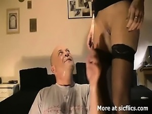 Fist fucking the wifes cavernous cunt