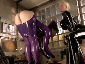 Sexy slutty lesbian babes have wild crazy sex as they play with cunt and rub...