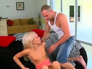Hot stud Jmac enjoys sweet Kacey Jordans sweet pussy and recives a deep blowjob