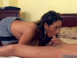 Mature black haired curvy cougar Persia Monir with massive tits