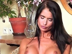 Tanned, slender candy striper Nessa Devil delves deeper into her intimate zone