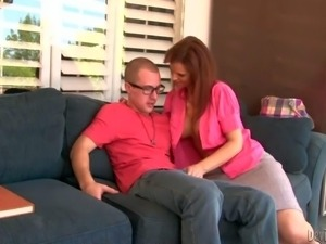 Sex hungry milf Syren De Mer seduces her step-son. She