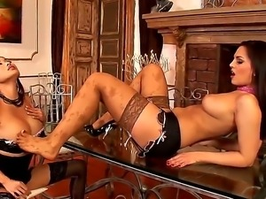 Danika and Eve Angel are enjoying an amzingly hot lesbian softcore private...
