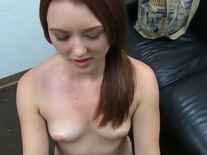 Redhead Cammie Fox gets deep pounded by her new boyfriend with a huge dick