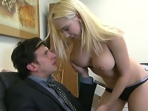 Crazy action right in the office with sexy bitch Kagney Linn Karter and her...