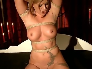 Enjoy bdsm hardcore scene with delightful and shameless blonde Pamela