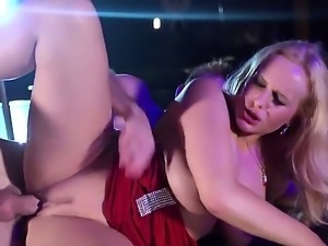Hot blonde strip dancer Angel Wicky got her twat fingered and fucked hard by...