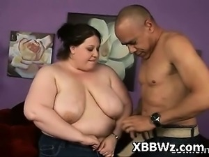 Seductive BBW Pussy Plugged Hard