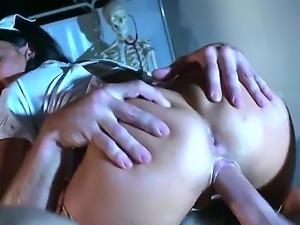 Dirty nurse Jasmine Jae likes feeling horny doc Jay Snake drilling her wet pussy