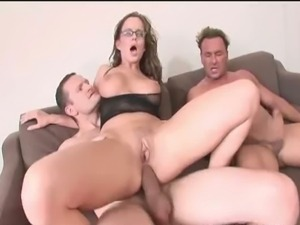 Horny cindy dollar enjoys dp threesome