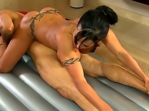 Brunette Jewels Jade with juicy tits loses control after Alan Stafford puts...