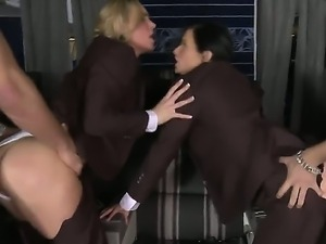 Amazing and spectacular group sex with hot bitches Veronica Avluv and Tanya...