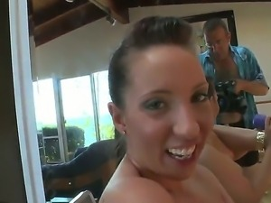 Two cute mature slutty bitches enjoy a lone session of anal rimming using...