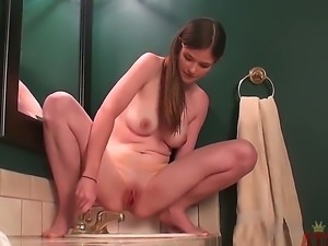 We are happy to present you young and hot babe Lara Brookes in the behind the...
