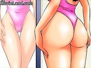 Sexy nasty big boobed anime horny babe part2
