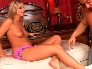 Hot super horny babe Barbie White gets an orgasm from an intense pleasurable...