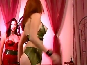 Sensational lesbian babes have the wildest time as they suck cunt and play...