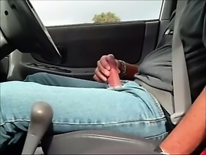 Hot Sexy Bulge Jean in Car