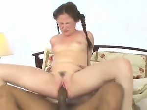 Black step dad Justin Long likes having naughty sex with hot babe Sindee...