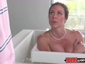 Kendra Lust is a sexy dark haired mom with perfect